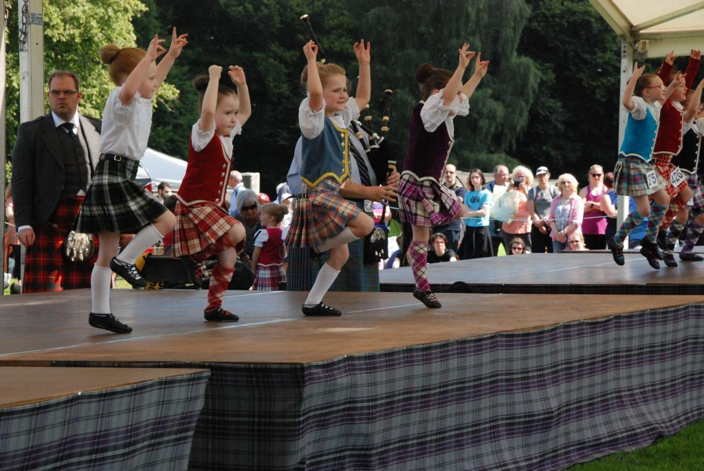 Pre-premier Highland dancers put on a show.