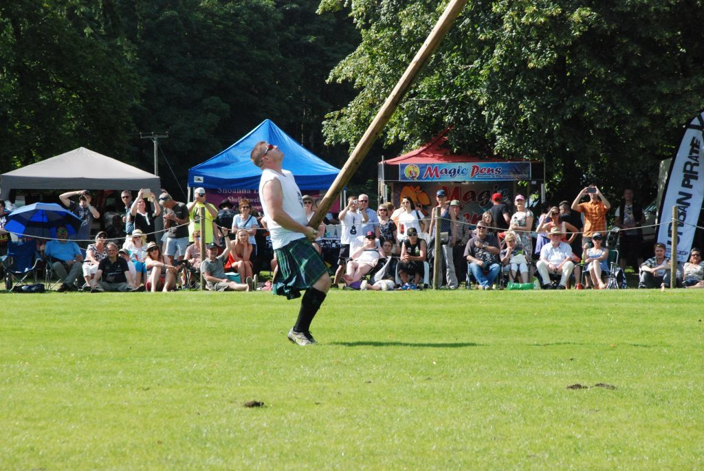 Lorne Colthart with the winning toss in the World Caber Championship at Inveraray last week.