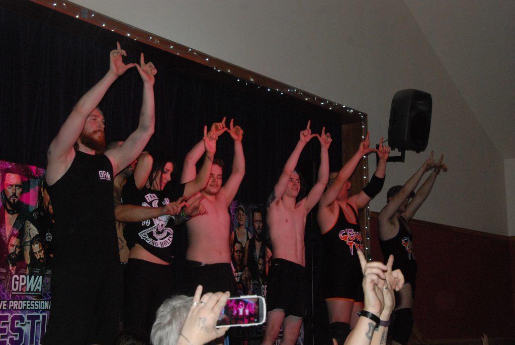 Team Wolfgang celebrate following their win at Tarbert. 08_a41teamwolfgang
