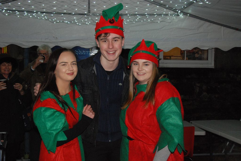 Santa's elves are joined by Lorne MacFarlane at the North Hall marquee. 08_a49ardrishaiglights03