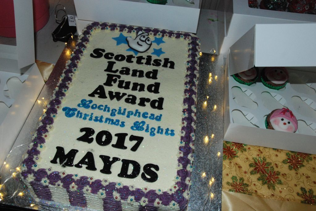 A cake made by Sharry's Cakes to celebrate MAYDS receving funding from the Scottish Land Fund for new facilities. 08_a49lochgilpheadlights04