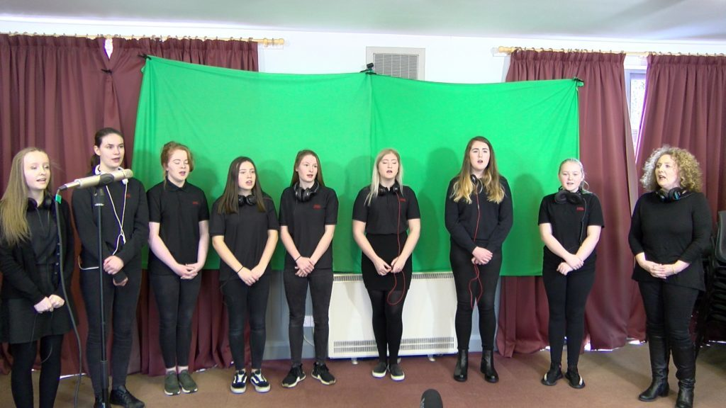 Tarbert Academy choir also features on the single. no_a07nancyglensong04