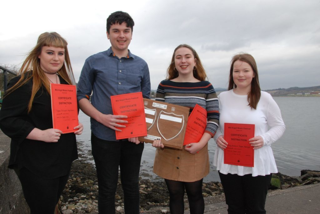 L-R: Tiegan Holyroyd, Alistair Cupples, Eve Maxwell and Holly Renton.