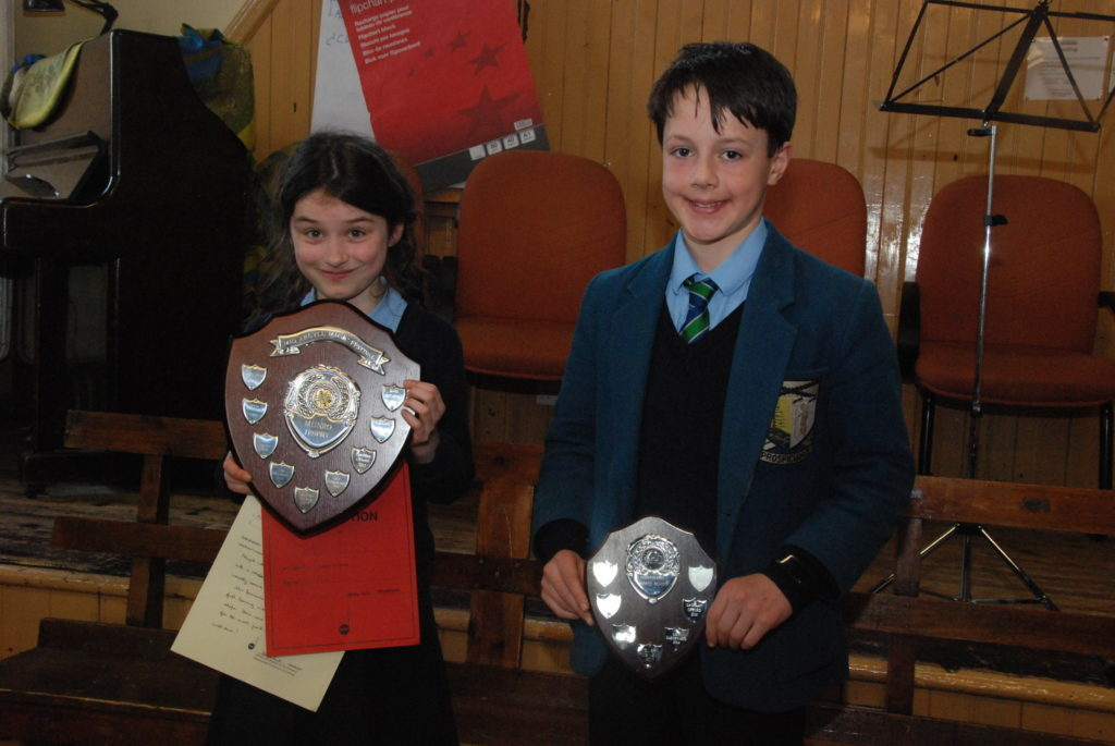 Daria Derevyankin and Ewan McCartney who competed in the Scots fiddle session.