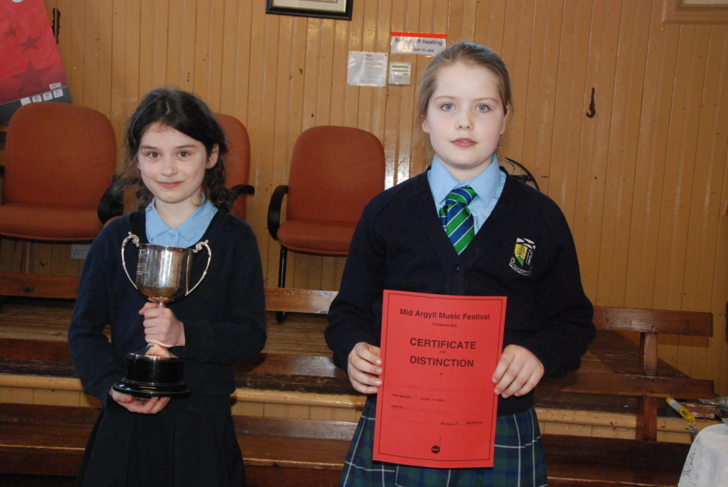 Tarbert Academy's Daria Derevyankin pipped Robyn Fleming from the Lomond School int0 second place in the violin solo competition.