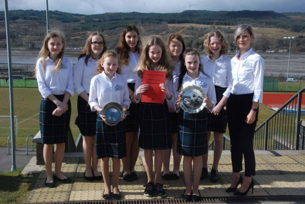 Intermediate Gaelic choir winners Coisir Og Dhail Riata also won the Saltire Quaich for the highest mark in the Saturday morning session.