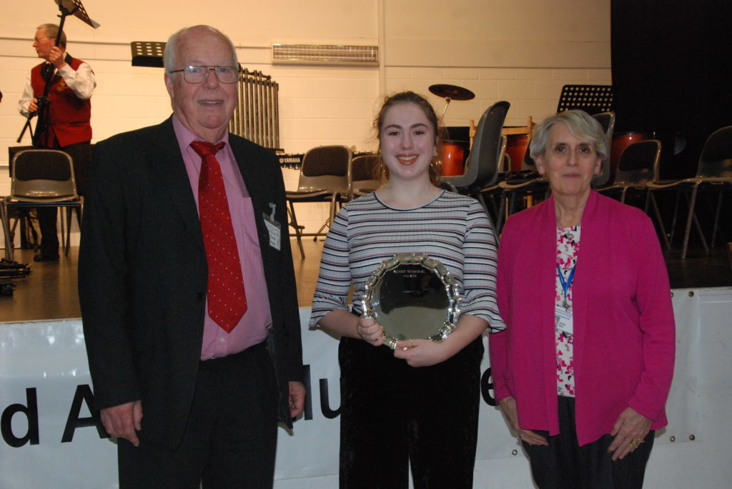 Eve Maxwell finished off a successful music festival winning the Munro Memorial Salver for the highest mark in vocal solo.