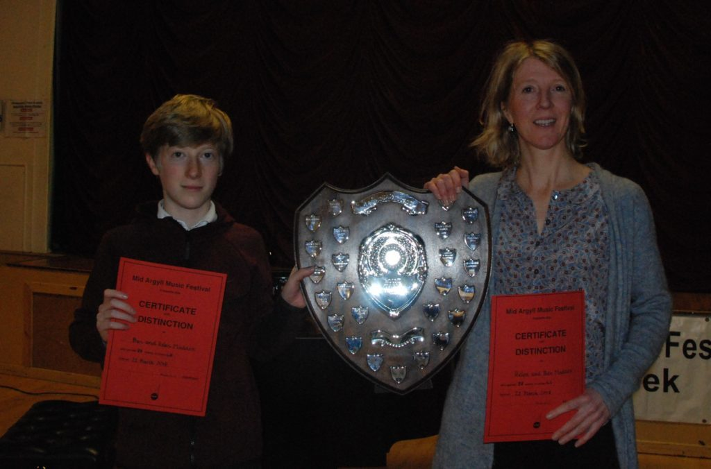 Family duet winners Helen and Ben Maddox who performed Golliwog's Cakewalk.