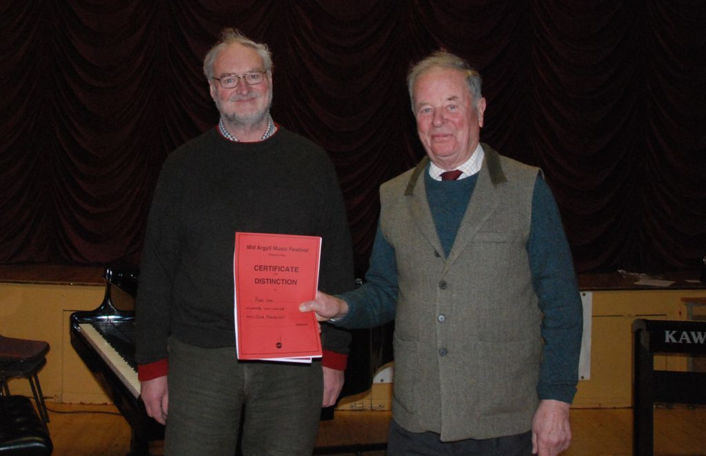 Advanced piano duet winners Fiat Lex (John Marsden and Bruce Weir).