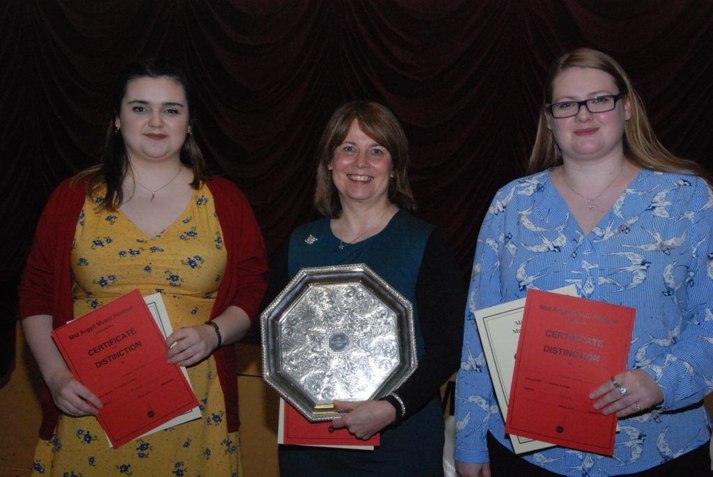 Winners from the senior songs from the shows class were Fiona Cupples, Ann McMillan and Shona Keith.