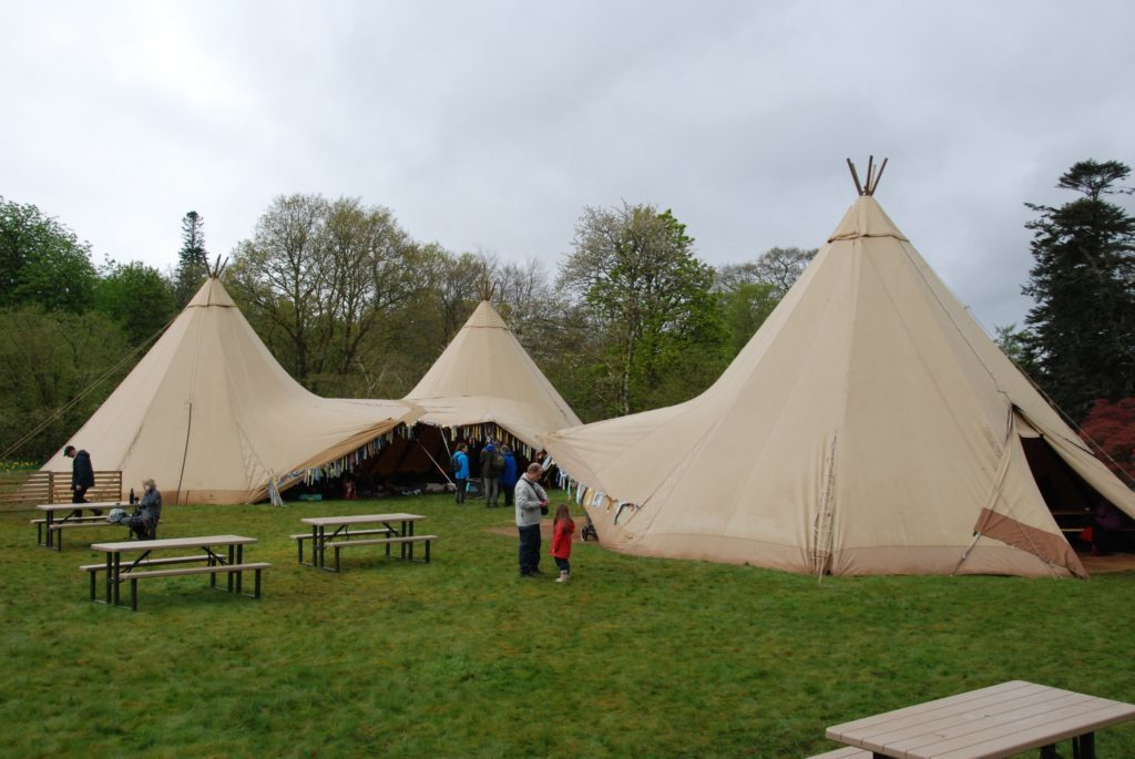 The teepees offered something a little different to the usual marquee. 06_a19ScapaFest13