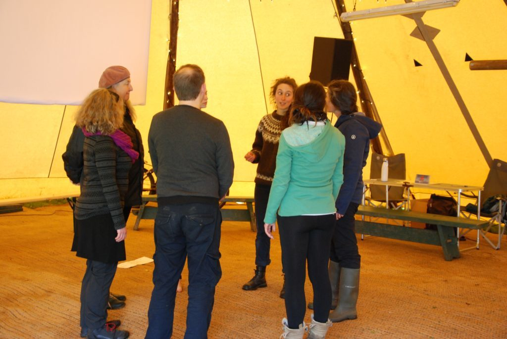 Tamsin Wates leads a class in Singing with our Senses. 06_a19ScapaFest21