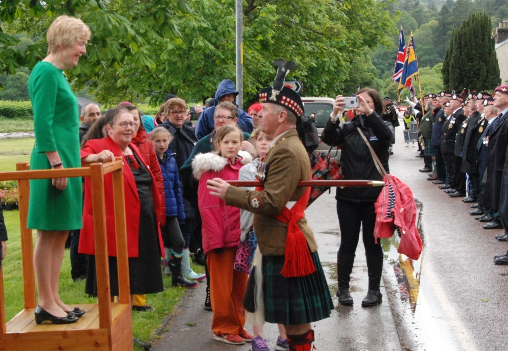 Vice Lord Lieutenant of Argyll and Bute Jane MacLeod gives Sergeant Major  Danny Hamilton permission to dismiss the parade. 08_a25AFD19
