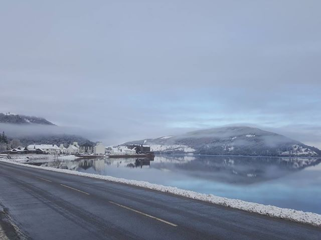 A wintery view of Inveraray, by Kim George