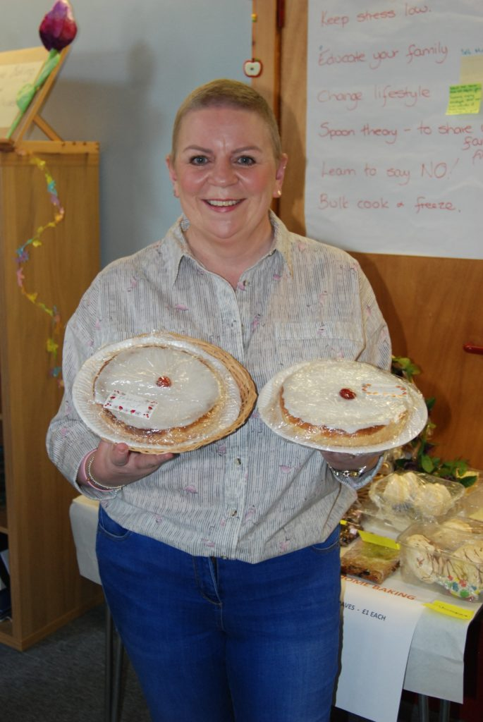 Yvie Young, who recently completed breast cancer treatment, was delighted with these two Bakewell tarts