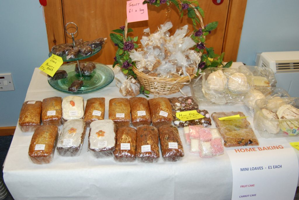 A fine display of tempting home baking at the spring fayre