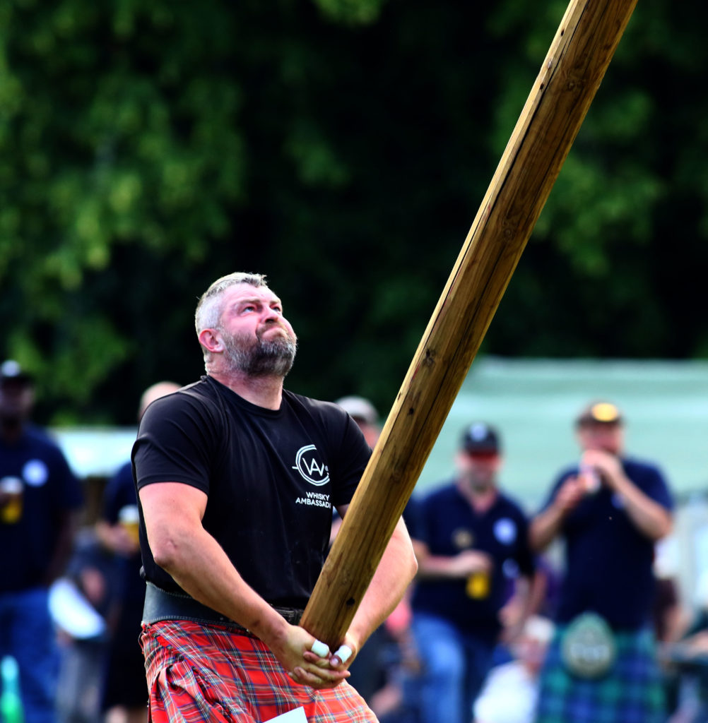 Lukaz Wenta Poland delighted  winner of the world caber tossing championship inveraray highland games picture kevin mcglynn
