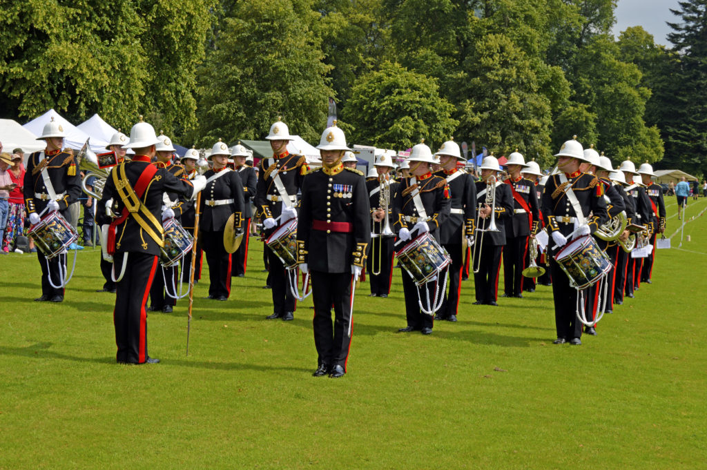 The band of HM Royal Marines Scotland take to the games field. JS29INVGAMES07