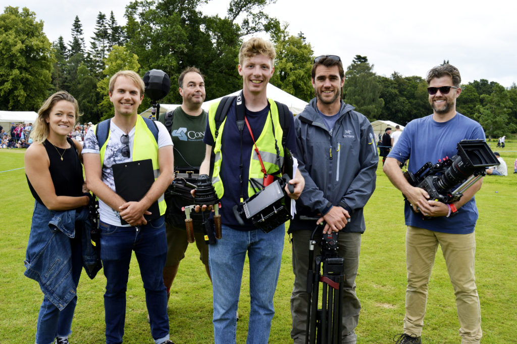 Inveraray Highland Games will feature in a documentary for the Smithsonian Channel and filming took place throughout the day.  JS29INVGAMES22