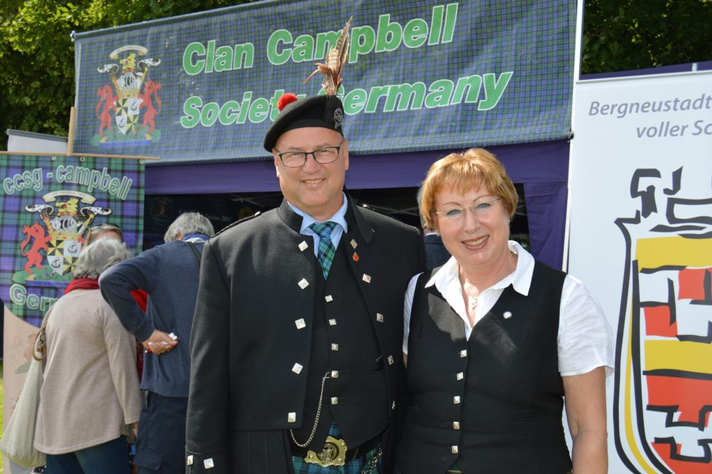 Michael and Susanne Enders were members of the Clan Campbell branch from Germany who attended the games. JS29INVGAMES32
