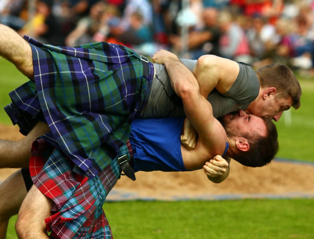 The wrestling was a big draw. Photograph: Kevin McGlynn