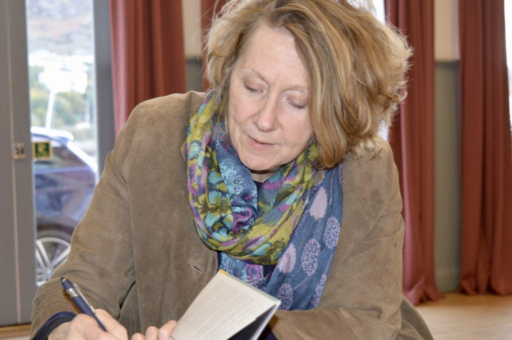 Melanie Reid signs copies of her book 'The World I Fell Out Of'