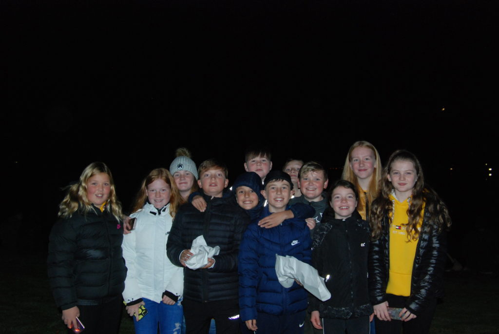Lochgilphead youngsters gathered on the front green