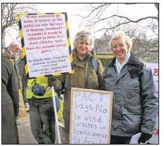 Wind farm above Glen Aray – views aired at hearing