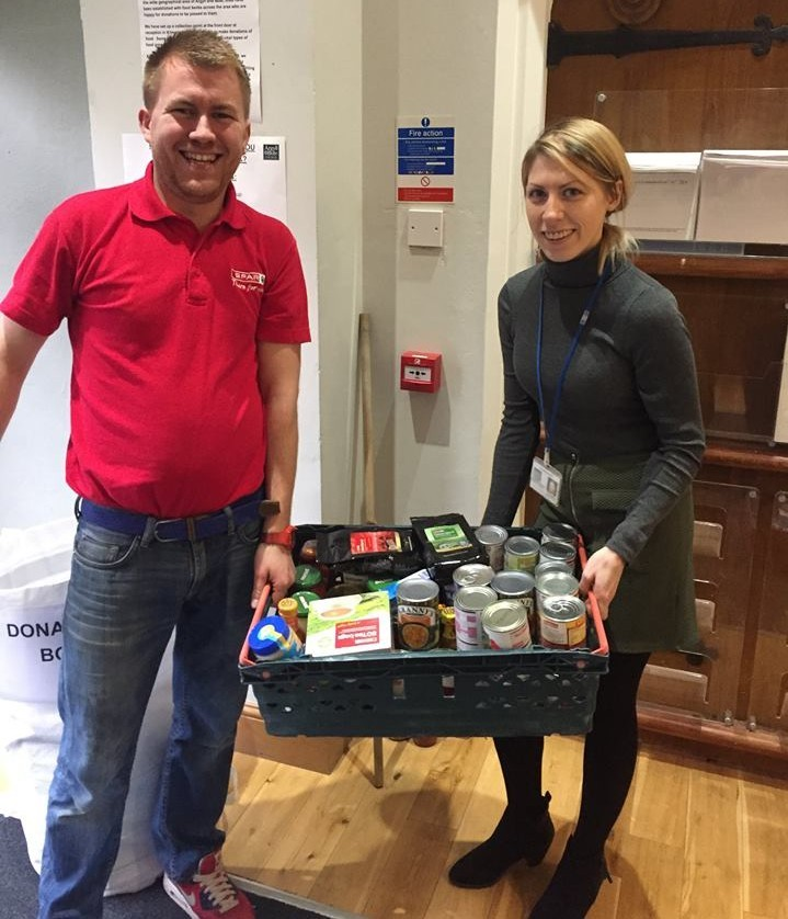 Council staff pledge community food bank help