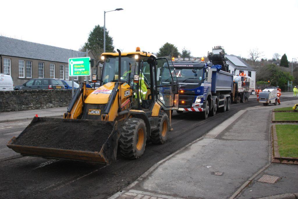 Delays as busy Lochgilphead stretch of A83 resurfaced