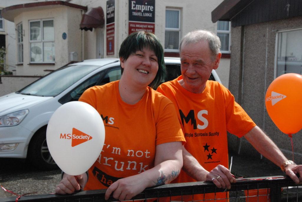 MS fundraiser paints Lochgilphead orange
