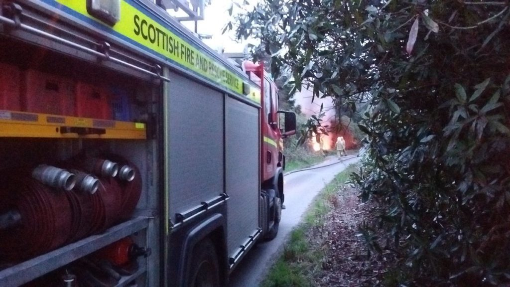 Firefighters tackle Lochgilphead tyre fire