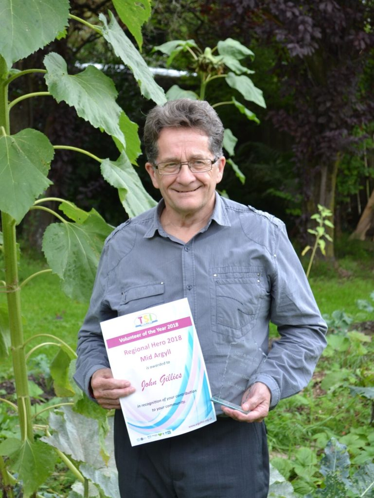 John Gillies wins at Volunteer of the Year Awards