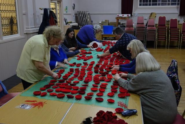 Inveraray centenary poppy display takes shape