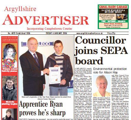Argyllshire Advertiser PDF Archive 2006