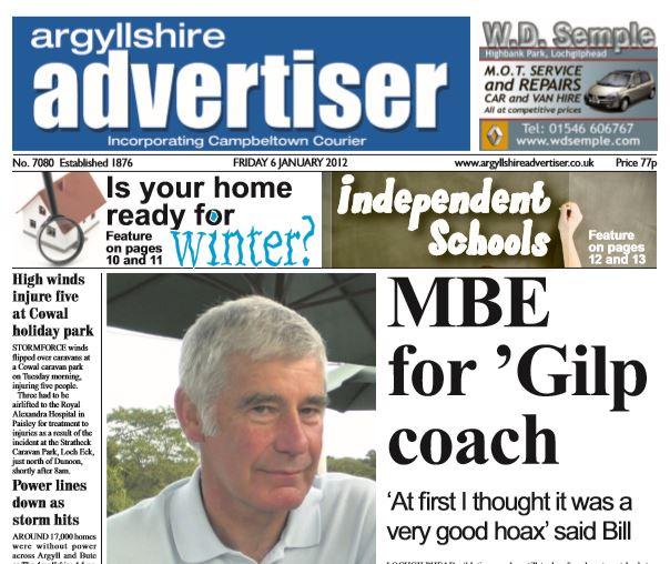 Argyllshire Advertiser PDF Archive 2012