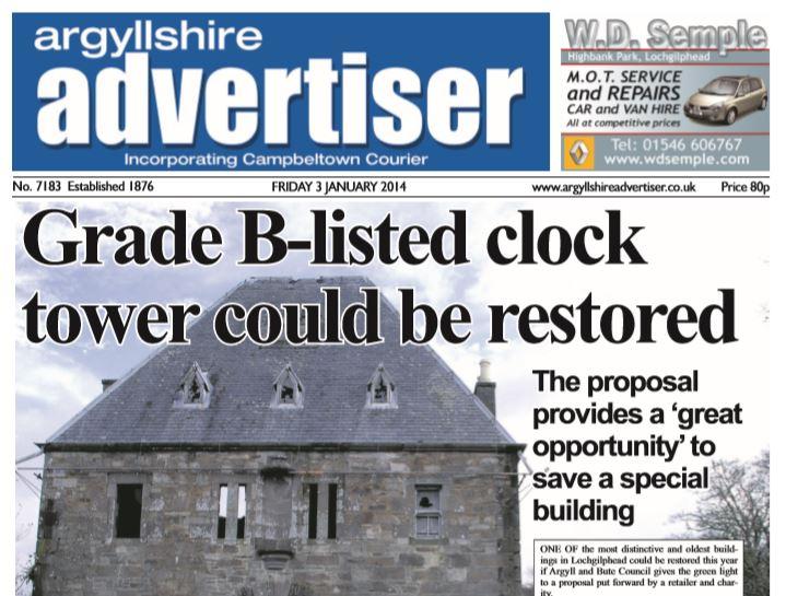 Argyllshire Advertiser PDF Archive 2014