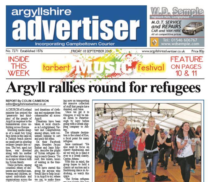 Argyllshire Advertiser PDF Archive 2015