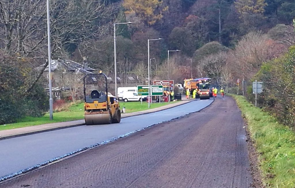 Weather-delayed A83 roadworks set for completion