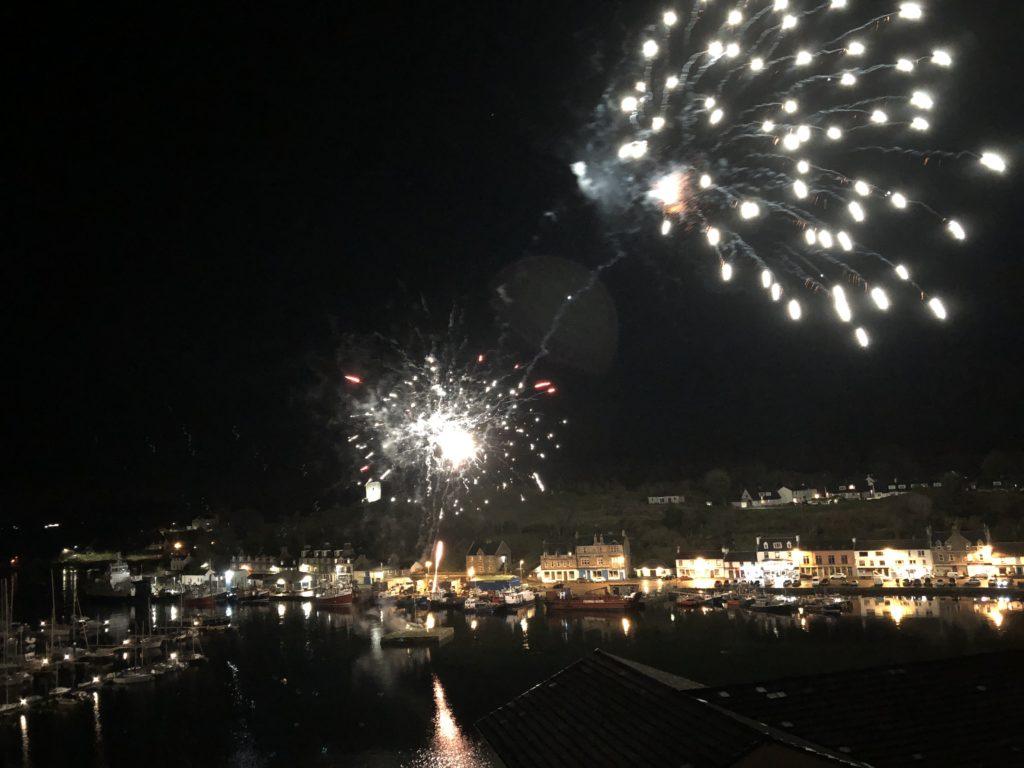 Fireworks light up Tarbert sky
