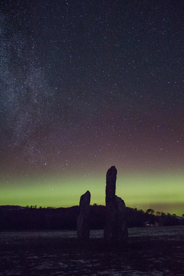 Northern Lights captured over Kilmartin