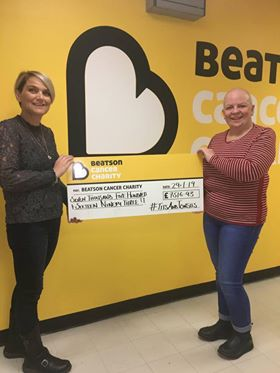 Yvie and Maria deliver Beatson cheque