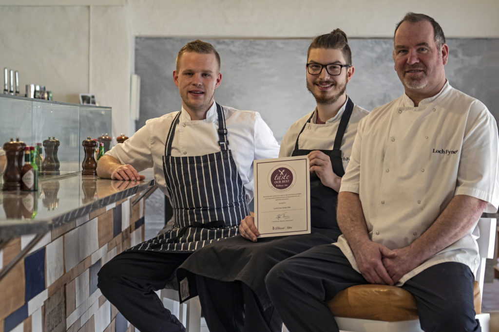Loch Fyne Oysters recognised by VisitScotland