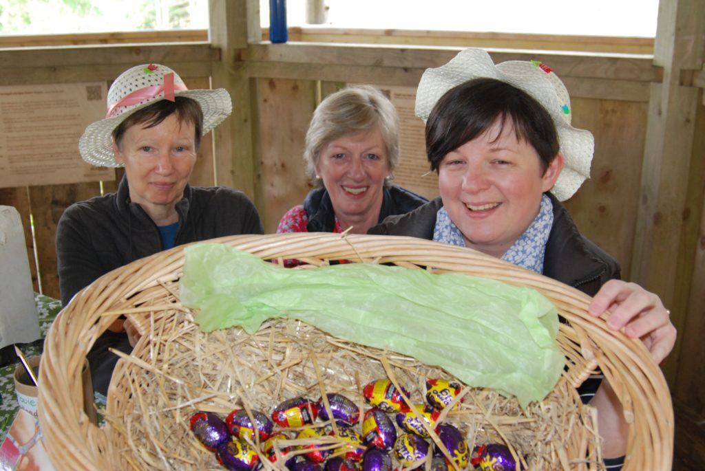 Eggs hunted down for Easter in Blarbuie woodland