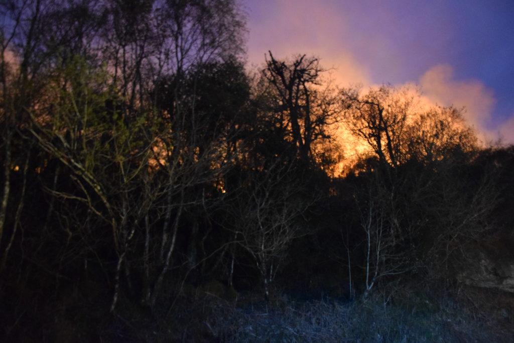 Firefighters douse Stronachullin hill blaze