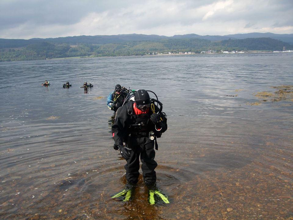 Divers dig deep to clean Arrochar shoreline