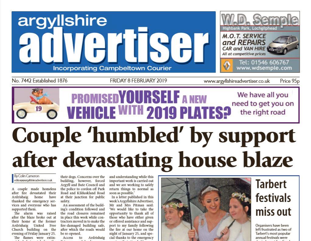 Argyllshire Advertiser PDF Archive 2019