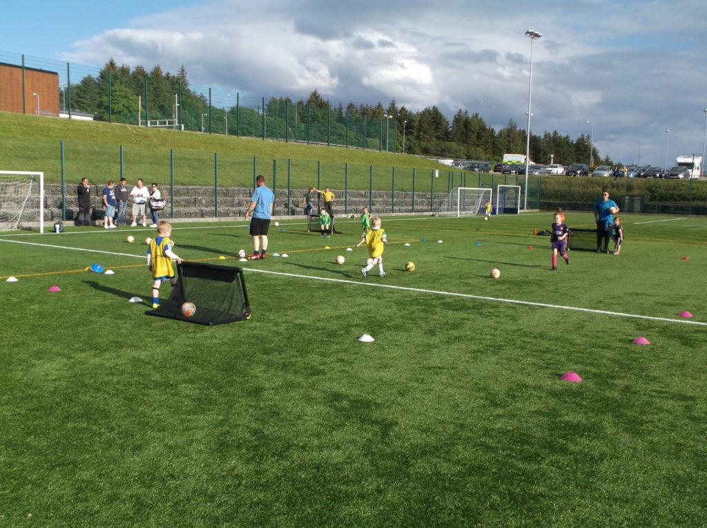 Active fun for pre-school kids at Lochgilphead Soccer Centre