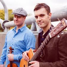 James Hickman and Dan Cassidy in Craignish Village Hall