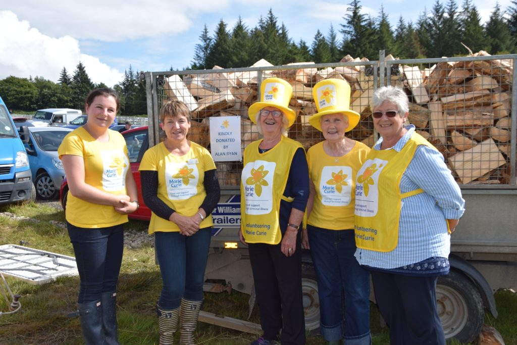 Trailer load of cash raised for Marie Curie